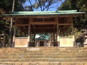 多賀神社防炎施工