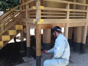 多賀神社防火施工